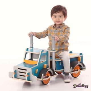 【美國 Buildex】純木質騎乘車(勁酷大卡車)