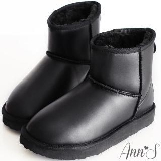 【Ann'S】俏皮甜心防潑水素面短筒雪靴(黑)