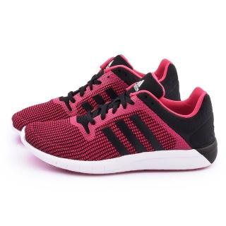 【Adidas】女款 CC Fresh 2 W輕量慢跑鞋(B22975-紅黑)