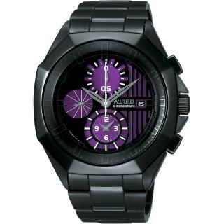 【SEIKO 精工】太陽能兩地時間時尚不鏽鋼腕錶(41mm/V174-0AB0S)