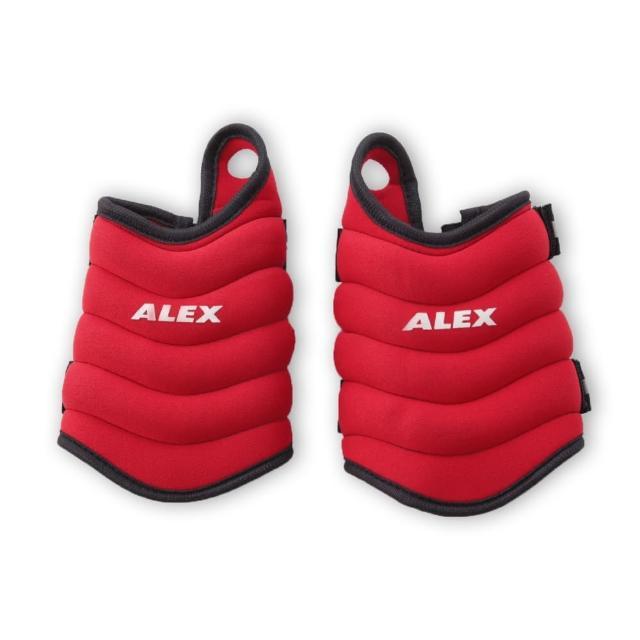 【好物推薦】MOMO購物網【ALEX】連指型加重器1KG-健身 重量訓練  有氧韻律(紅)推薦momo富邦購物