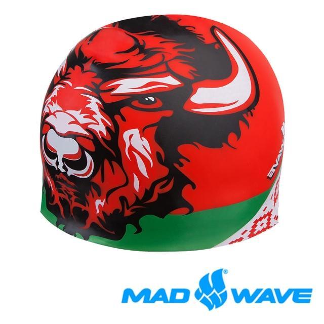 【俄羅斯MAD富邦momo購物WAVE】魔幻寫實設計款泳帽BELARUS CAP(競技 成人 飆速 泳帽)