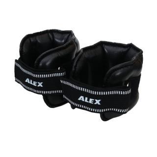 【ALEX】5KG PU型多功能加重器-台灣製 健身 重訓 肌力訓練 手腳加重(黑)