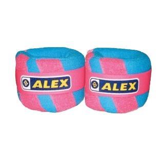 【ALEX】天鵝絨多功能加重器-1KG-重量訓練健身 有氧(粉)