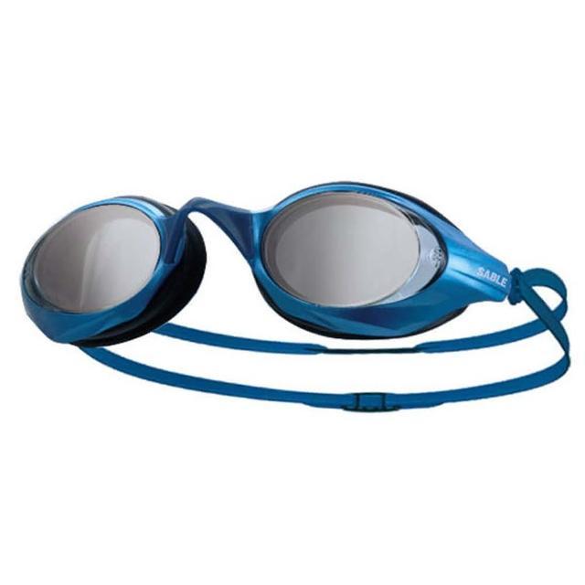 【部落客推薦】MOMO購物網【SABLE】黑貂 競速型塑剛玻璃鏡片泳鏡-清晰防霧 游泳(藍)推薦momo購物專線