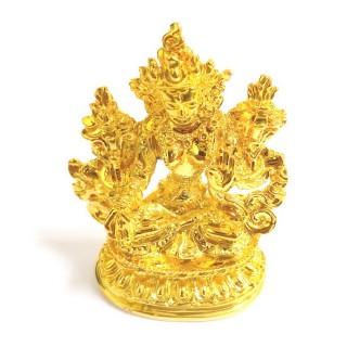 【十相自在】5.8公分 小佛像/法像-金黃色(白度母)