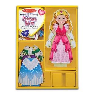 【美國 Melissa&Doug】木磁紙娃娃-公主(MD3553)