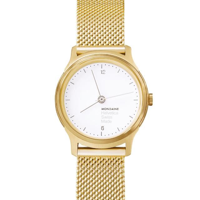 【MONDAINE瑞士國鐵】設計系列限量腕錶(金米蘭帶/26txt2p95800mm)