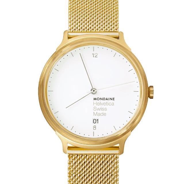 【MONDAINEtimberland客服電話瑞士國鐵】設計系列限量腕錶(金米蘭帶/38mm)