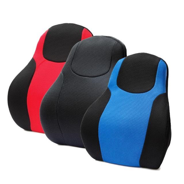【網購】MOMO購物網【3D】賽車椅護腰墊(黑/藍/紅)心得富邦網購
