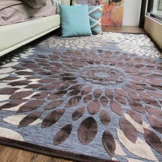 【范登伯格】卡斯☆頂級立體雕花絲質地毯-綻放(150x230cm)