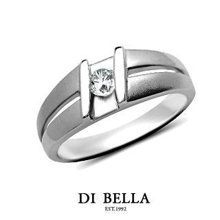 【DI BELLA】璀璨星空 真鑽情人戒指(男款)