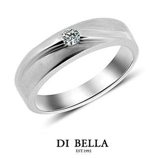 【DI BELLA】LOVER 真鑽情人戒指(男款)