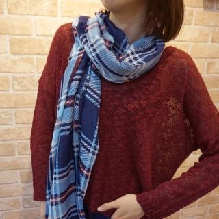 【Lus.G】經典雙色斜直紋圍巾(共6色)