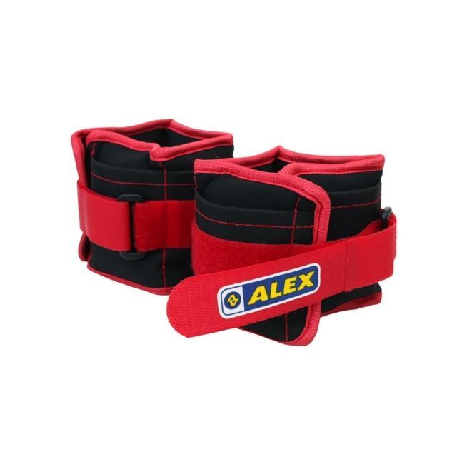 【網購】MOMO購物網【ALEX】2KG 沙包型加重器-台灣製 慢跑 健身 重量訓練 可拆式(黑紅)價格m0m0旅遊
