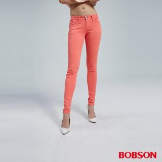 【BOBSON】女款粉彩色套染緊身褲(8069-20)
