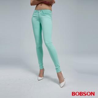 【BOBSON】粉彩色套染緊身褲(8069-40)