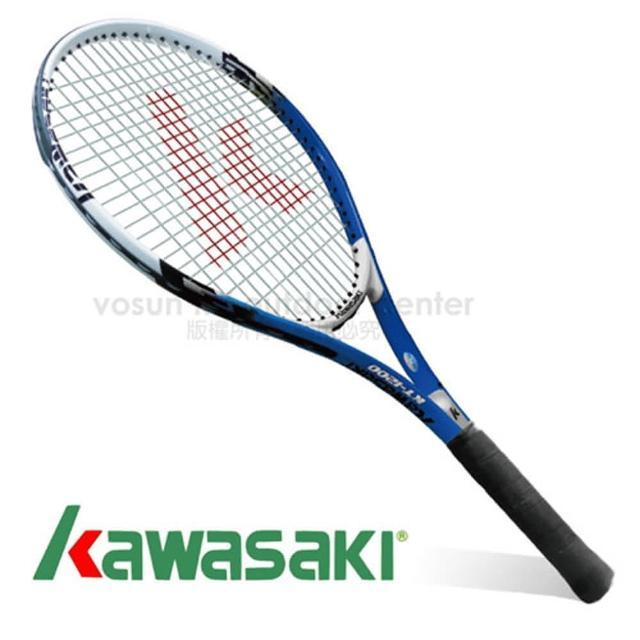 【日本 KAWASAKI】川崎 Power 3D強化鋁合金網球拍_全碳網球拍(藍富邦購物網電話 KP1200BL)