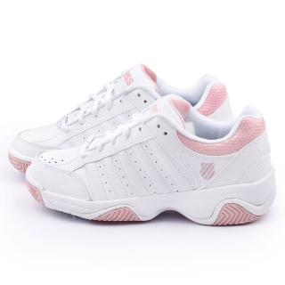 【K-SWISS】女款GRANCOURT III 網球運動鞋(93354-151-白粉)