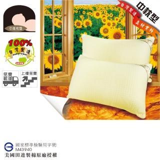 【優眠田邊】矽絨羽樂活纖棉枕1入(三層立體緹花親膚表布)