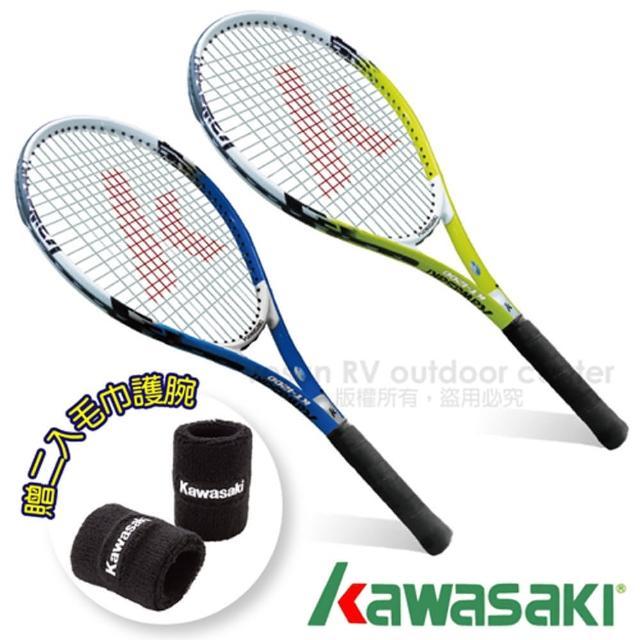 【日本 KAWASAKI】川崎 Power 3D強化鋁合金網富邦購物網球拍2入組(KP1200)