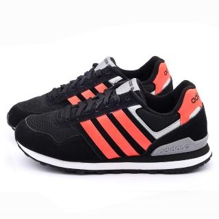 【Adidas】男款 10K 輕量慢跑鞋(F98294-黑橘)
