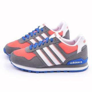 【Adidas】女款 10K W 輕量慢跑鞋(F98274-灰橘)