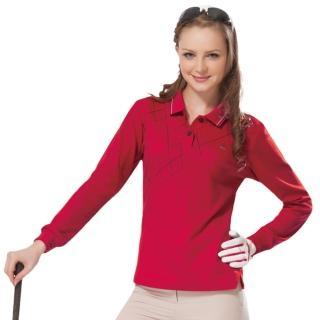 【SPAR】女版長袖POLO衫紅色(SP77534)