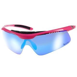 【720 運動太陽眼鏡】飛磁換片系列水銀鏡面款(黑-桃紅#720B336 C03)