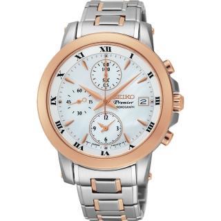 【SEIKO】Premier 羅馬優雅計時錶(7T92-0TG0S SNDV68J1)