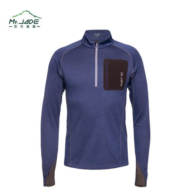 【私心大推】MOMO購物網【Mt. JADE】男款i-Cosey Pluto吸排半開襟上衣(復古藍)效果momo購物網站