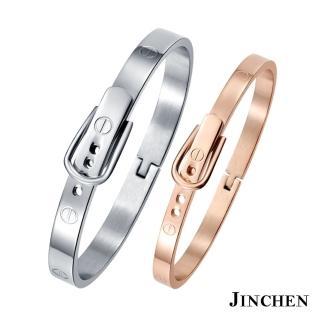 【JINCHEN】316L鈦鋼情侶手環一對價CC-746(螺絲錶帶手環/情侶飾品/情人對手環)