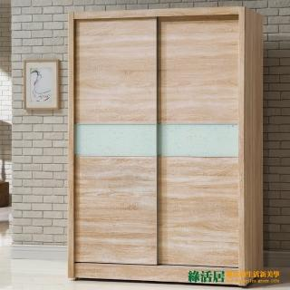 【綠活居】愛比爾4.7尺推門衣櫃(兩色可選)