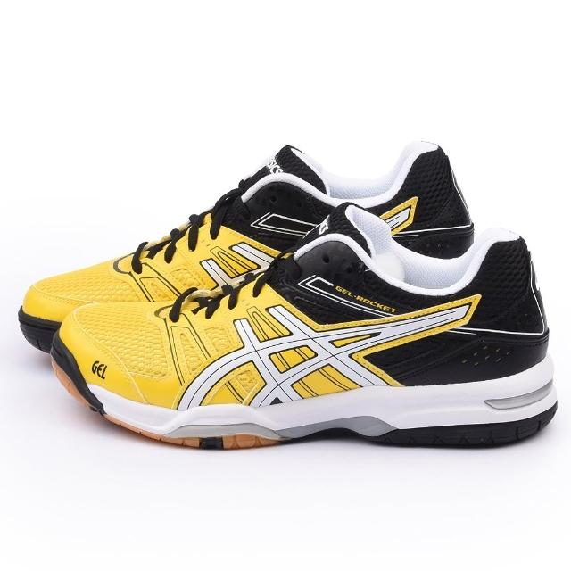【Asics】男款 GEL-ROCKET 7 排羽球運動momo網購鞋(B405Q-0401-黃)
