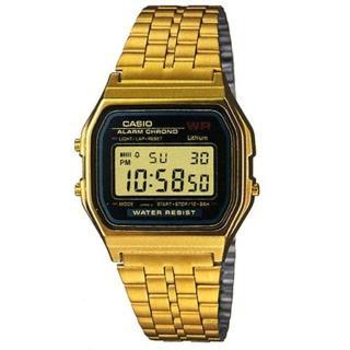 【CASIO】復古風潮的方形經典電子錶(A-159WGEA-1)