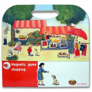 【BabyTiger虎兒寶】比利時 Egmont Toys 艾格蒙繪本風遊戲磁貼書(購物市集)