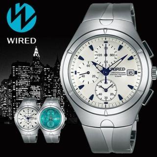 【WIRED】SOLAR 藍色颶風太陽能計時腕錶(37mm/V176-0AJ0B)