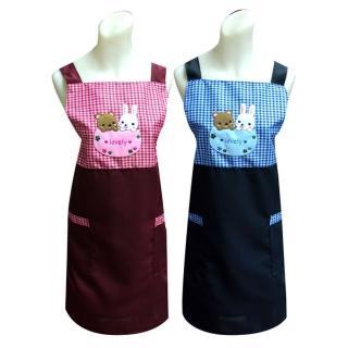 好麻吉貼布繡圍裙TT505(藍紅二入任組)