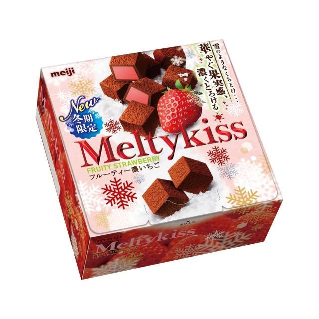 【明治momo折價券使用】Meltykiss巧克力-草莓口味56g(巧克力)