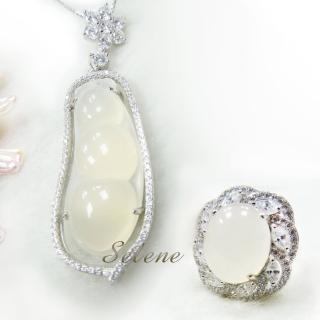 【Selene 珠寶】冰種白玉髓福豆