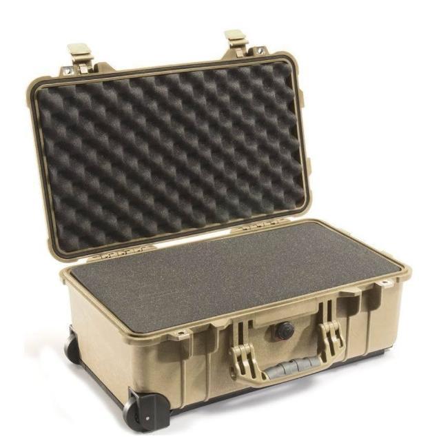 【美國 PELICA富邦momo旅遊評價N】1510 氣密箱 登機箱 含輪座(沙漠黃)