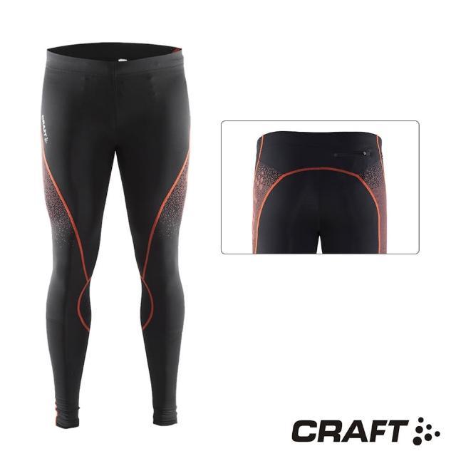 【CRAFTmomo購物專家】DELTA男款運動壓縮長褲(黑/紅)