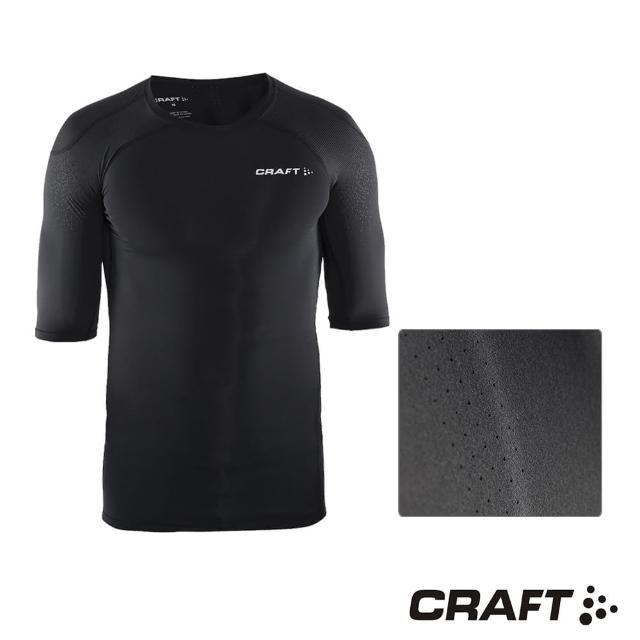 【好物分享】MOMO購物網【CRAFT】DELTA男款運動壓縮短袖上衣(黑色)去哪買momo網路購物