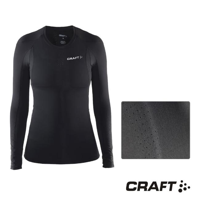 【CRAFTmomo電視購物台電話】DELTA女款運動壓縮長袖上衣(黑色)