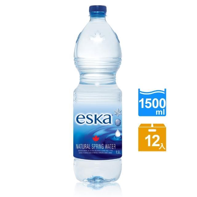 【eska愛斯卡】加拿大天然冰川水 momo購買1500ML(12入/箱)