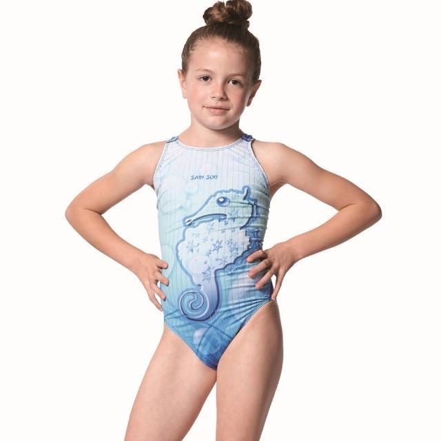 【開箱心得分享】MOMO購物網【SAIN SOU】競賽/泳隊女童連身三角泳裝(附矽膠泳帽A87501)心得momo電話購物