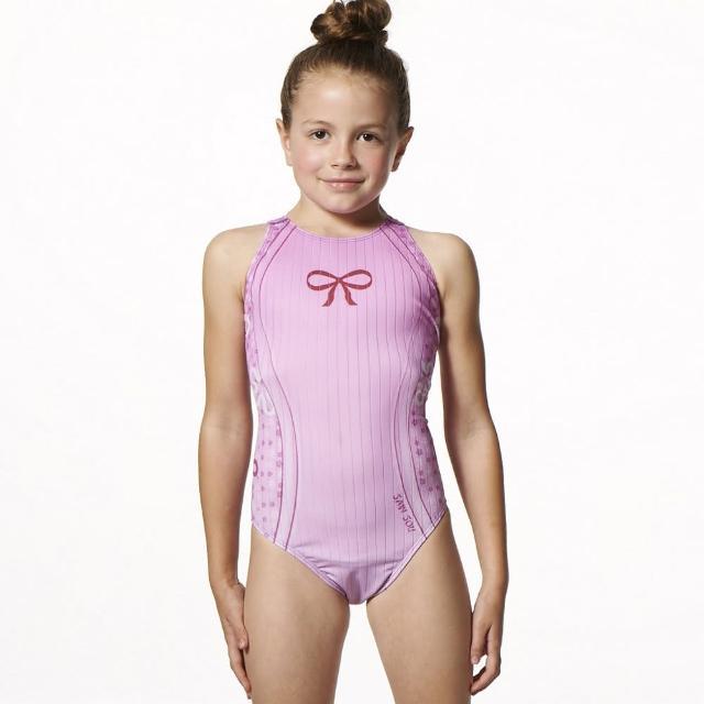 【開箱心得分享】MOMO購物網【SAIN SOU】競賽/泳隊女童連身三角泳裝(附贈矽膠泳帽A87503)哪裡買富邦購物台旅遊