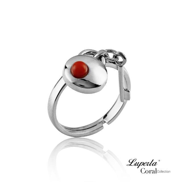 【大東山珠寶】誓約同心全紅珊瑚montb純銀戒指(天然全紅沙丁珊瑚)