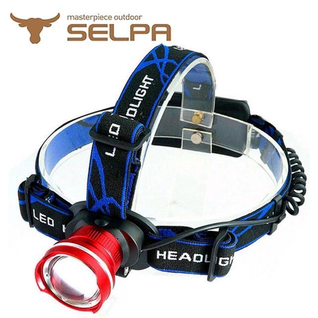 【好物推薦】MOMO購物網【韓國SELPA】T6LED伸縮變焦鋁合金頭燈(紅色)效果momo會員