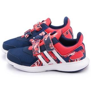 【Adidas】大童 時尚迷彩輕量運動鞋(AQ4847-桃藍)